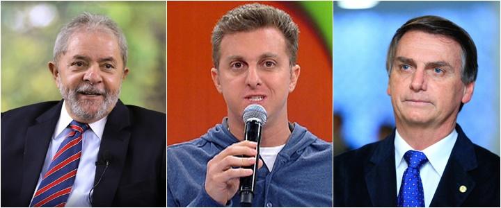 Ibope divulga novo levantamento lula huck bolsonaro eleições 2018