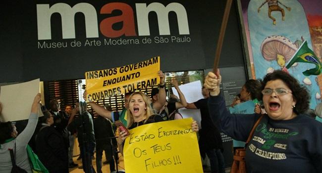 perfil pessoas paulista arte manifestar contra o MAM