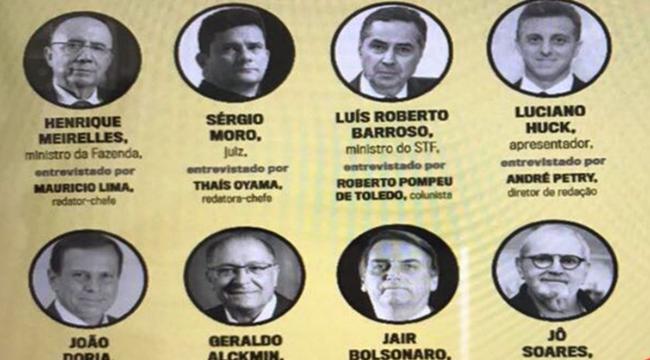 revista veja promove bolsonaro doria huck moro alckmin meirelles