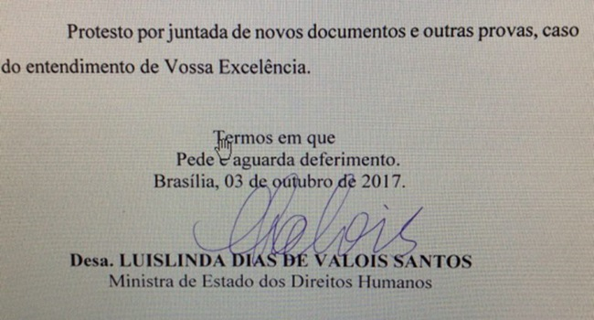 cabeça ministra direitos humanos Luislinda Valois governo temer