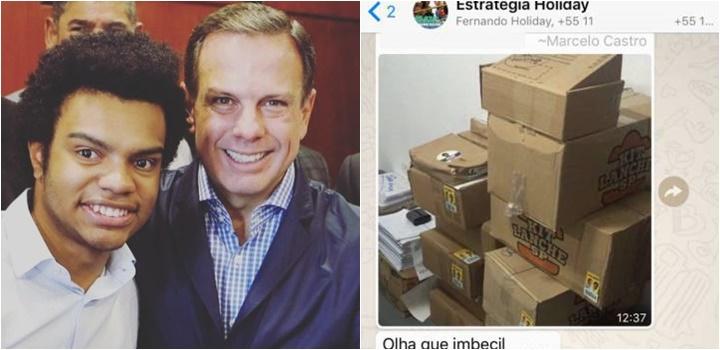 Fernando Holiday João Doria Santinhos