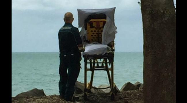 paramédicos desviam rota levam paciente ver o mar última vez