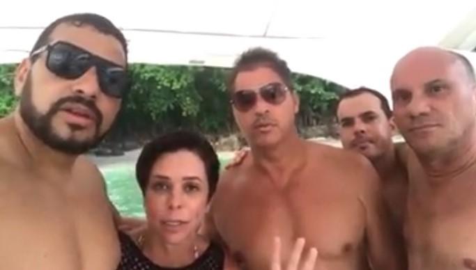 Cristiane Brasil barco vídeo iate