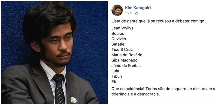 Kim Kataguiri vira piada lista pessoas debate