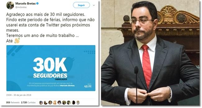 Marcelo Bretas não aguenta pressão abandona twitter