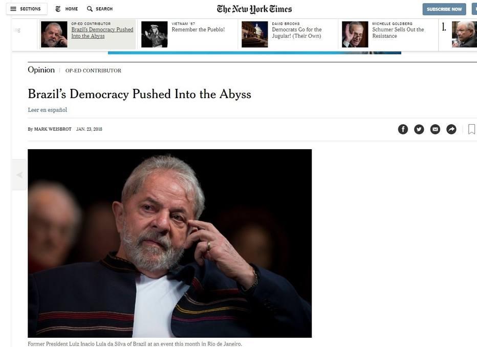 julgamento de Lula new york times