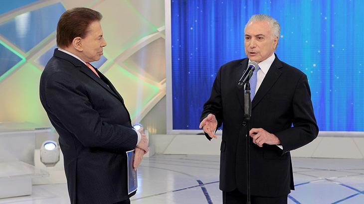 Michel Temer entrevistou Silvio Santos SBT