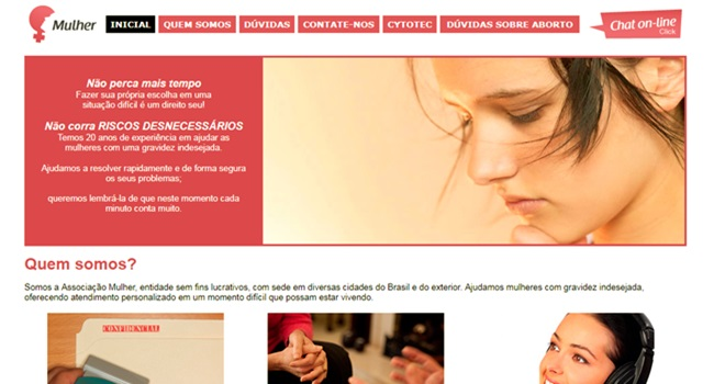 site ligado opus dei oferece armadilha aborto mulheres