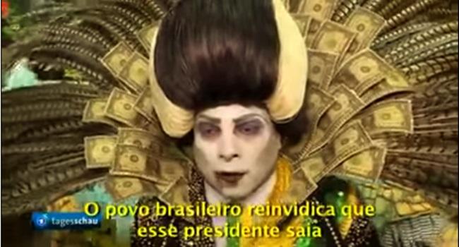 censura ao vampiro presidente tuiuti carnaval imprensa da alemanha