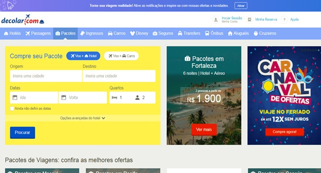 Decolar.com investigada manipular preços hotel rio de janeiro são paulo