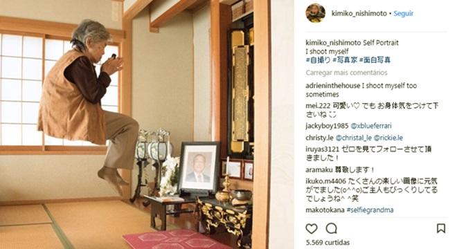 fotos inusitadas bisavó japonesa sucesso redes sociais instagram fotografia