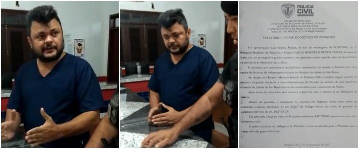 médico nega socorro bebê Maranhão