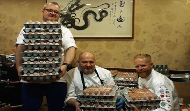 equipe noruega recebe 15 mil ovos erro tradução