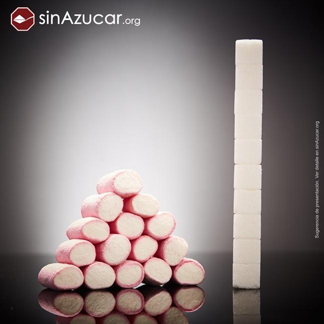 quantidade açúcar alimentos consumidos vendidos marshmallow