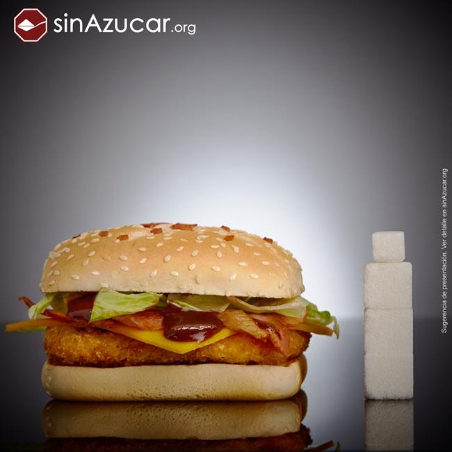 quantidade açúcar alimentos consumidos vendidos hamburguer