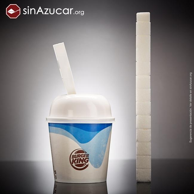 quantidade açúcar alimentos consumidos vendidos sorvete fusion burguerking