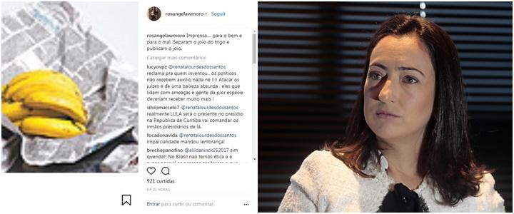 atacar a imprensa Rosângela Moro fecha a conta no Instagram