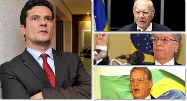 Sérgio Moro blinda FHC, Sarney e Itamar franco