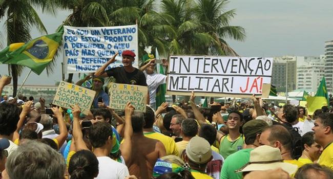 significa apoio popular à intervenção Rio de Janeiro