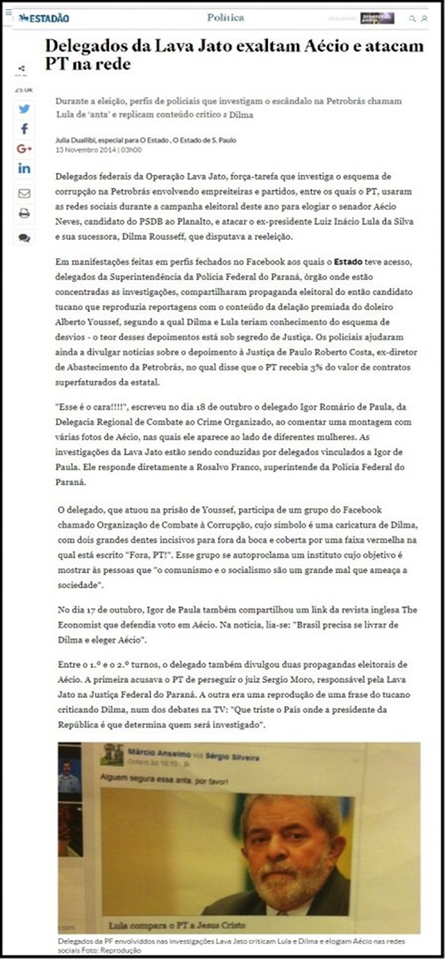 delegado denunciar ilegalidades da lava jato absolvido justiça