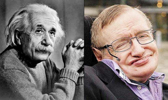 Albert Einstein e Stephen Hawking