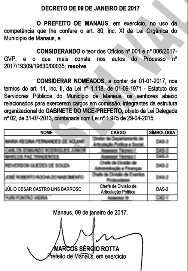 Funcionário fantasma Prefeitura Manaus líder Vem pra rua