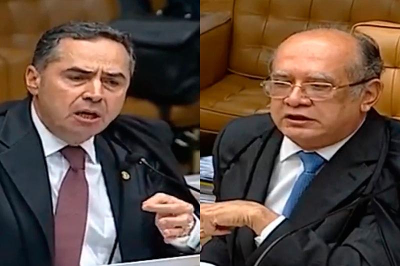 ofensas entre Barroso e Gilmar Cármen Lúcia encerrar sessão STF