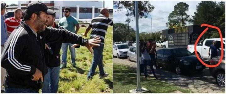 homens armados caravana de Lula