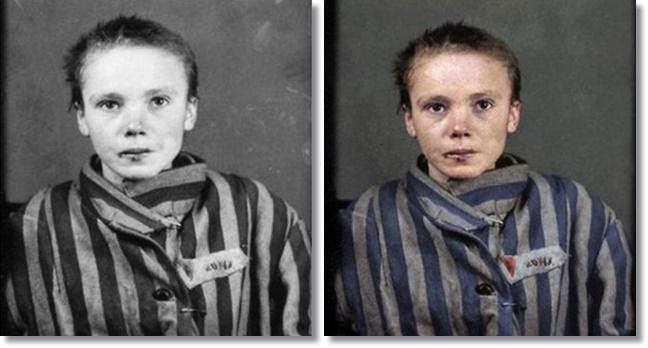 Imagens históricas preto e branco são coloridas