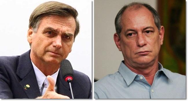 Jair Bolsonaro aciona a Justiça contra Ciro Gomes