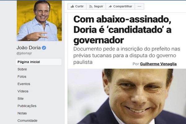 João Doria abandona prefeitura