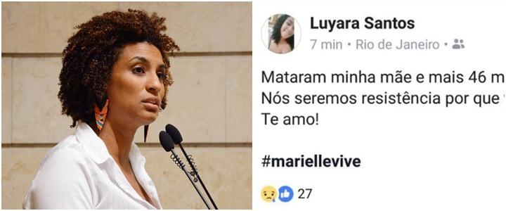 Filha de Marielle Franco desabafo