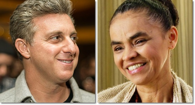 Marina Silva anuncia parceria luciano huck