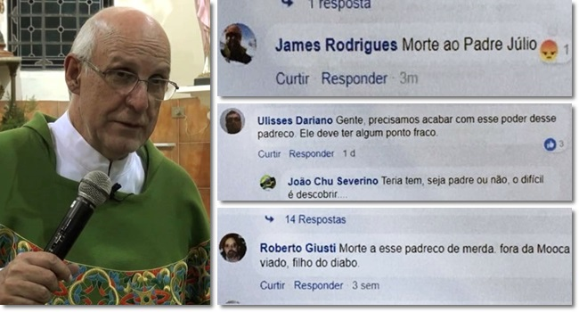 Padre Julio Lancellotti é ameaçado de morte defender moradores de rua