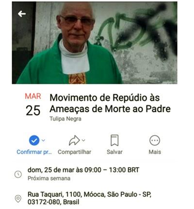 Padre Julio Lancellotti é ameaçado de morte por defender moradores de rua