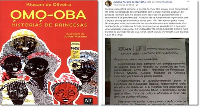 pais censurar livro sobre cultura negra em escola Rio de Janeiro
