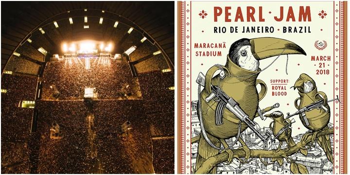 Pearl Jam pôster maracanã