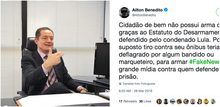 procurador tiro ônibus de Lula