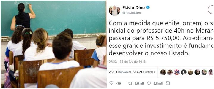 professor no Maranhão salário