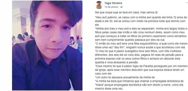 Yago Oliveira jovem gay suicídio