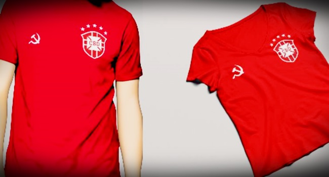 camisa da esquerda Seleção Brasileira é proibida pela CBF