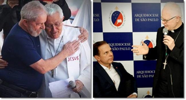 Cardeal Scherer declara guerra a dom Angélico homenagem a Marisa Letícia Lula