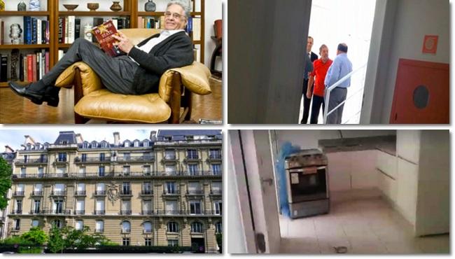 diferença triplex do Guarujá e o apartamento de FHC em Paris