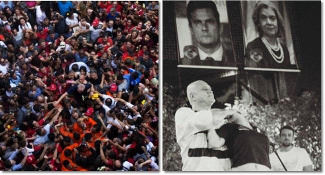 imagens que marcaram a prisão de Lula Povo Oscar Maroni