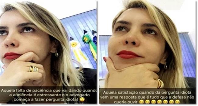 Anna Paula Gomes Freitas Juíza é processada por debochar de advogado