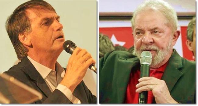 Lula e Bolsonaro são candidatos preferidos no Twitter