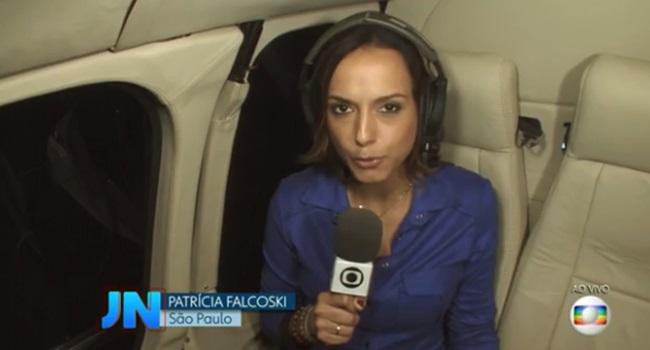 Patrícia Falcoski Repórter que cometeu gafe ascende na Globo Boni