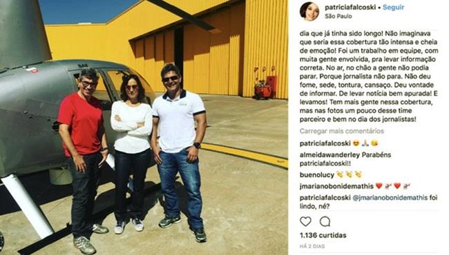 Patrícia Falcoski Repórter que cometeu gafe ascende na Globo