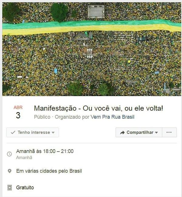 Sky paga seus funcionários ruas contra Lula