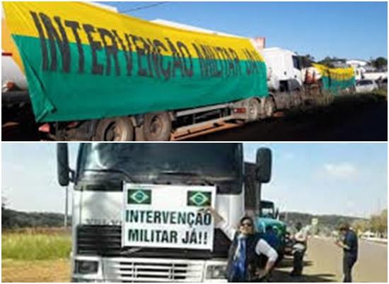 greve dos caminhoneiros extremistas